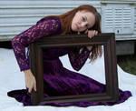 Purple Lace Dress Stock 2