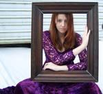 Purple Lace Dress Stock 7