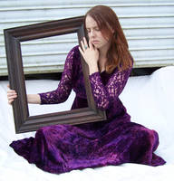 Purple Lace Dress Stock 11 by Gracies-Stock