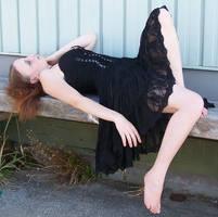 Black Dress Sitting 02 by Gracies-Stock