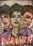 RUNNIN by Adam Lambert (poster drawing)