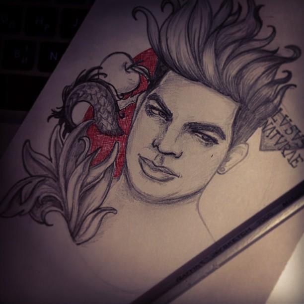 Adam lambert 39 s tattoos by arteleanor on deviantart for Adam lambert tattoos