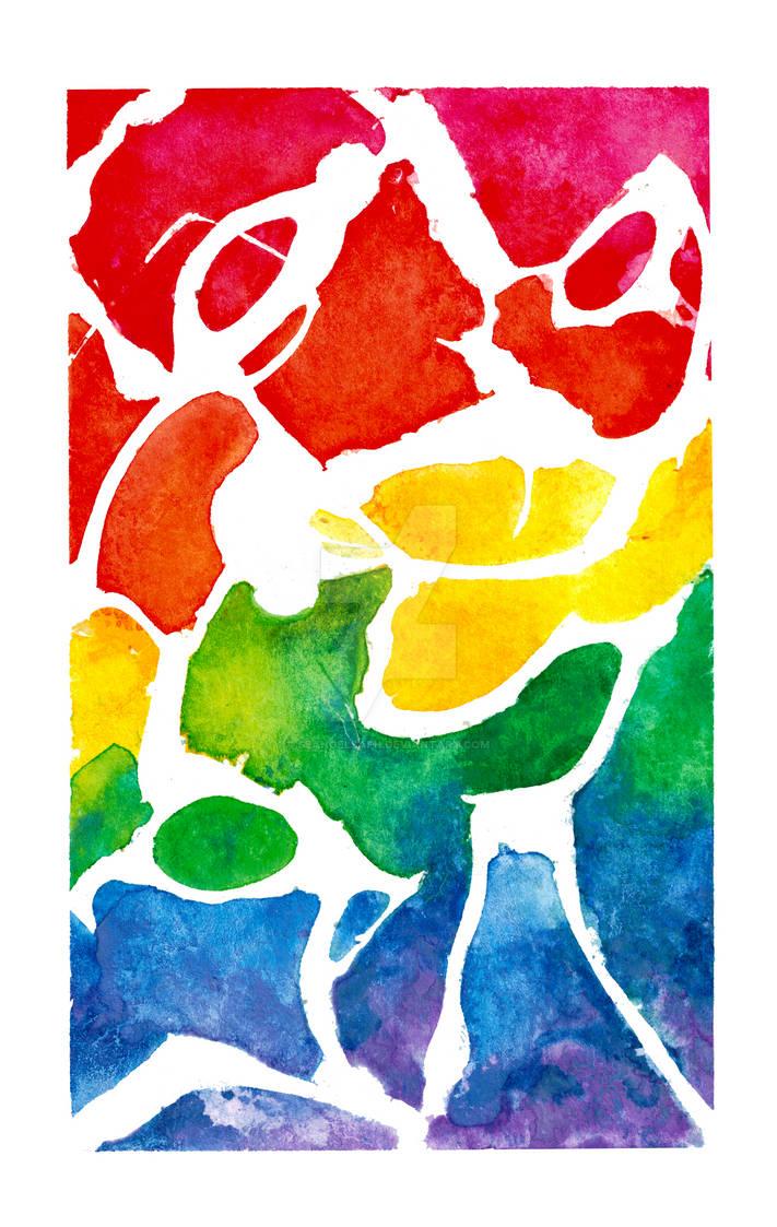 Rainbow Marble by SeangelSaph