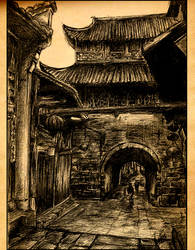 old Chinese street by Xuan1990