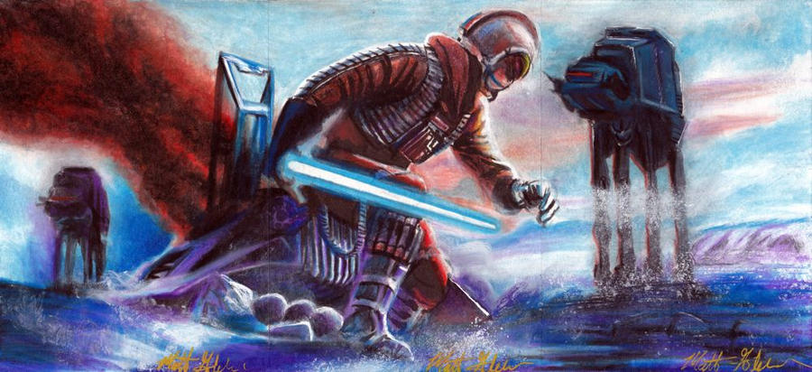 The Battle Of Hoth by Twynsunz