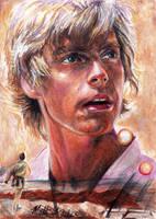 Binary Sunset Luke Skywalker by Twynsunz