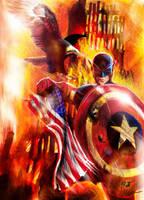 Captain America 911 by Twynsunz