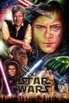 New Star Wars Trilogy Poster by Glebe