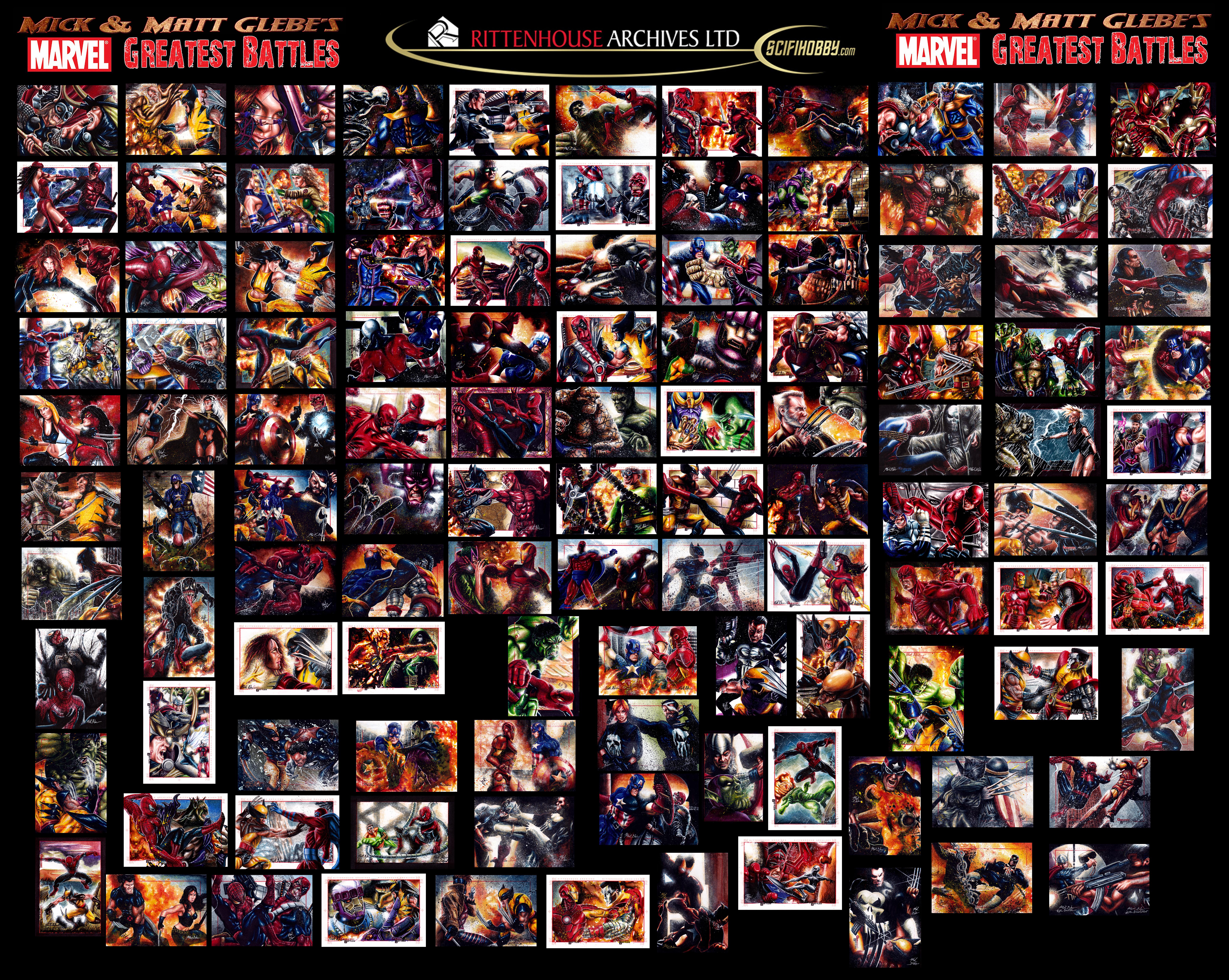 Glebe Marvel's Greatest Battles Puzzle Sketch Card