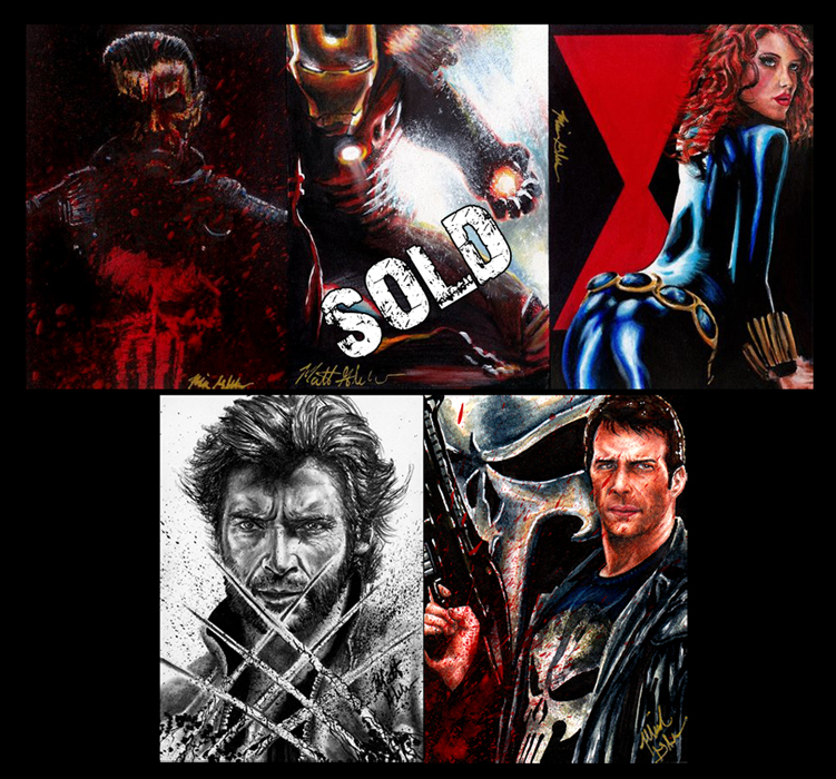 Glebe Movie Marvel Personal Sketch Cards For Sale by Twynsunz