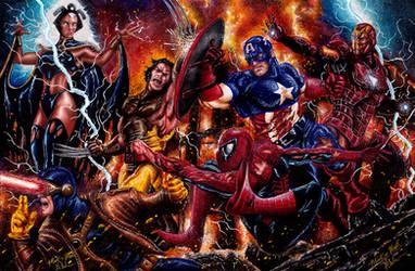 Avengers VS X-men by Twynsunz