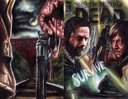 Walking Dead  Season 5 Sketch Cover by Twynsunz
