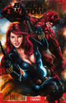 Black Widow #1 sketch cover by Glebe