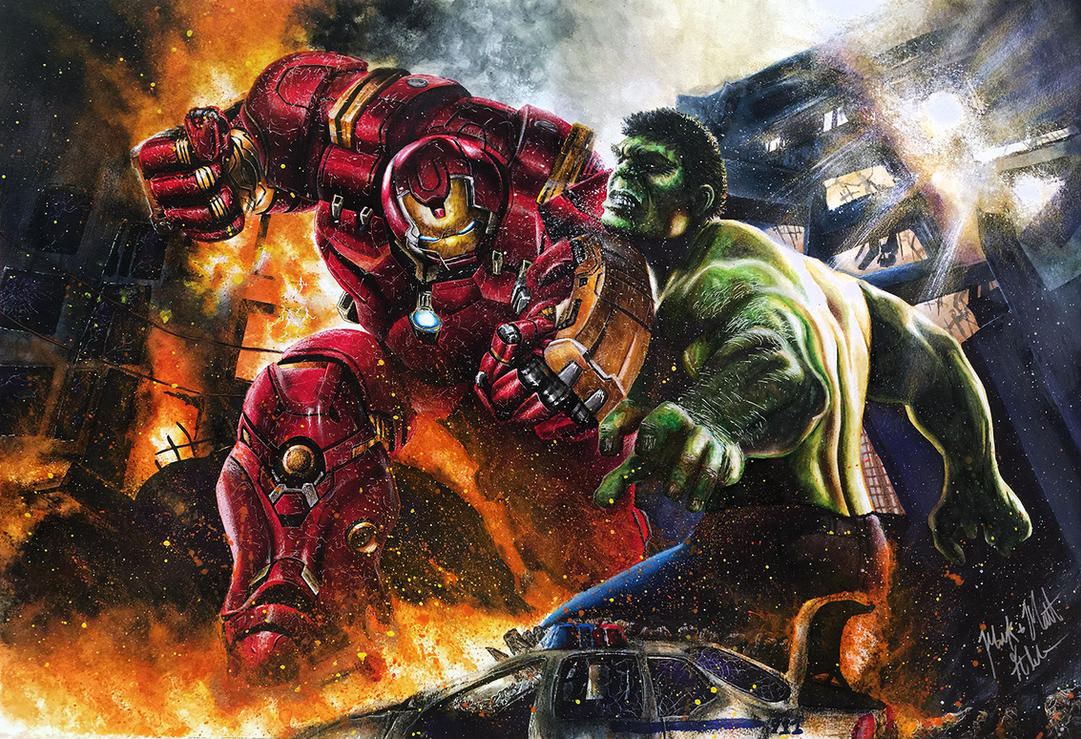 Hulk vs hulkbuster iron man avengers age of ultron by twynsunz on hulk vs hulkbuster iron man avengers age of ultron by twynsunz voltagebd Image collections