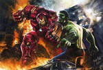Hulk Vs Hulkbuster Iron Man Avengers Age Of Ultron