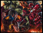 Glebe Marvel Greatest Battles Artist Proof