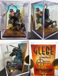 Indiana Jones Sculpted Sketch Card by Glebe by Twynsunz