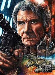Han Solo Star Wars Galaxy Base Art by Glebe by Twynsunz