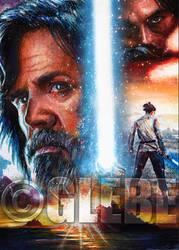 Luke Skywalker Star Wars Galaxy Base Art by Glebe by Twynsunz