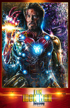 I Am Iron Man Poster Print by Glebe