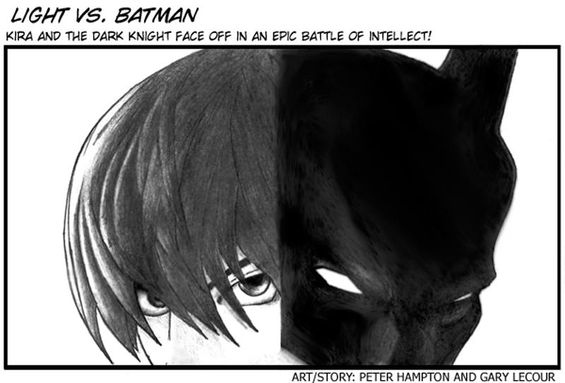 Light vs Batman by cogknack