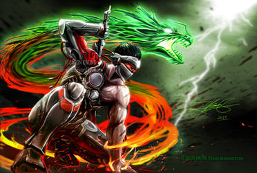 Blackwatch Genji - Redemption of the Green Dragon by Ravis