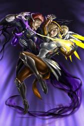 Overwatch: Moira vs Mercy , Soul's Battle by Ravis