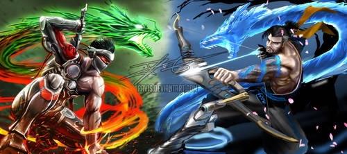 Overwatch: Battle of Dragons by Ravis