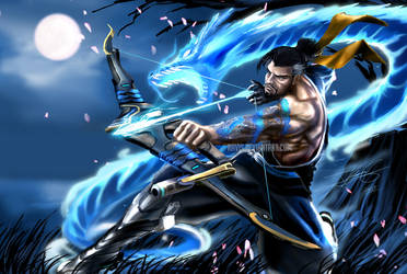 Overwatch: Hanzo, Let the Dragon Consume my foes! by Ravis