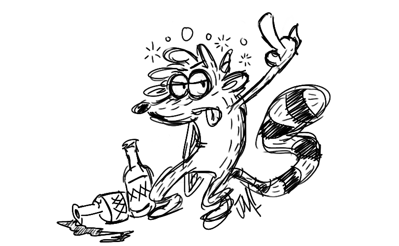 One dirty raccoon by Jose-Miranda