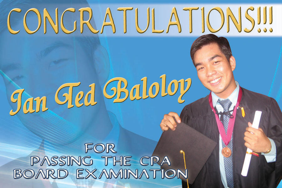 Congratulations background design for tarpaulin with letters ...