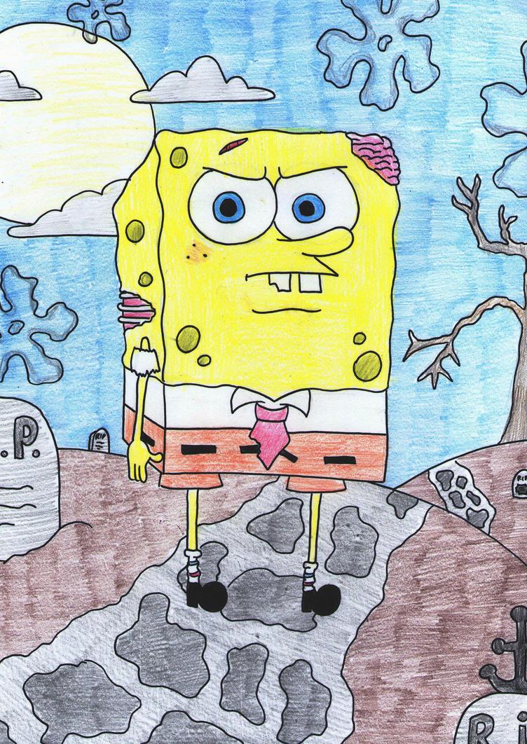 Halloween 11: Spongebob zombie by laurenjade15 on DeviantArt