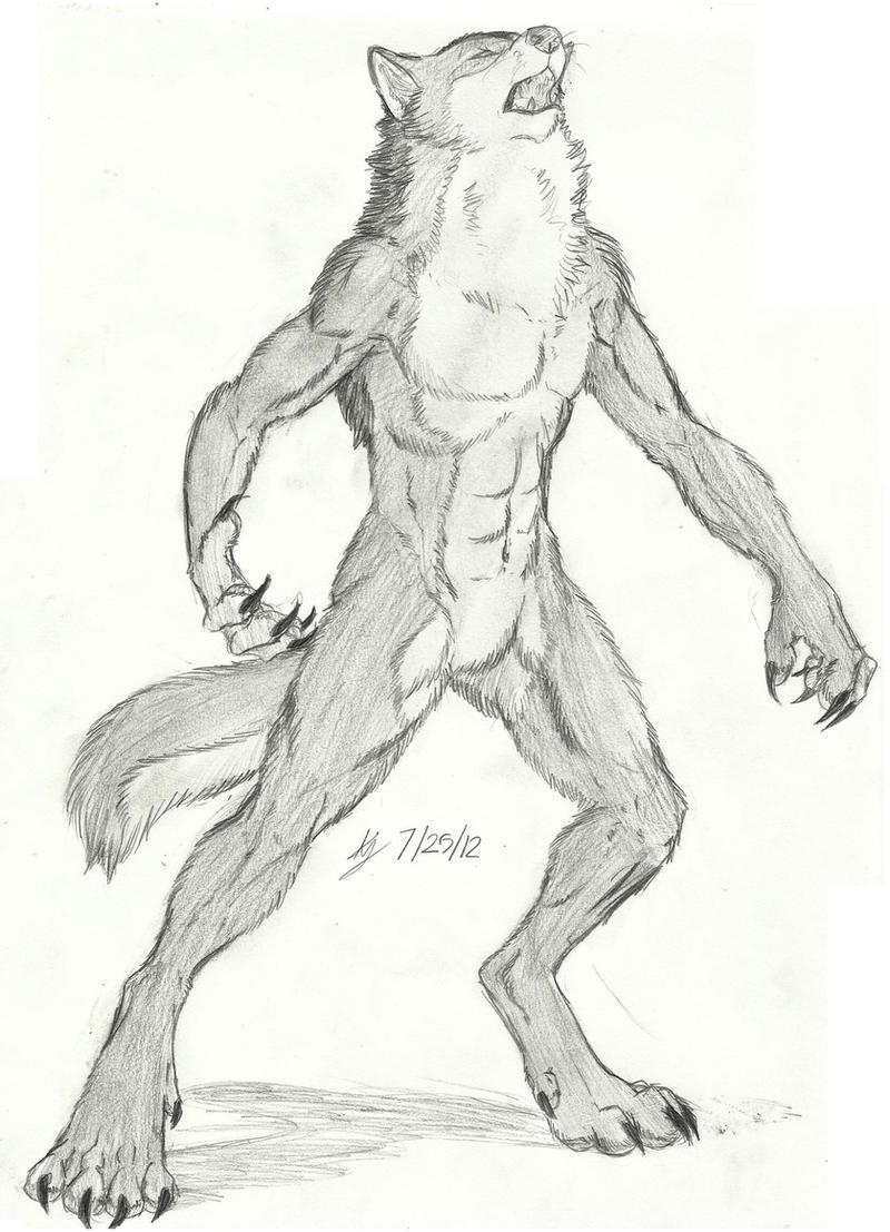 werewolf sketch by earthsong9405 on deviantart