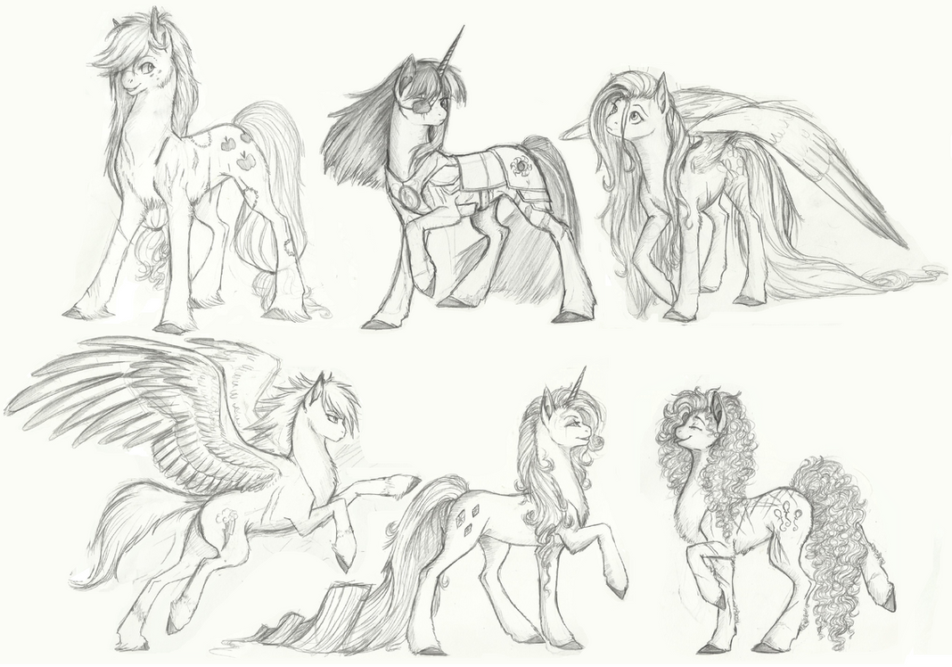 Requiem: Mane 6 Lineup by Earthsong9405