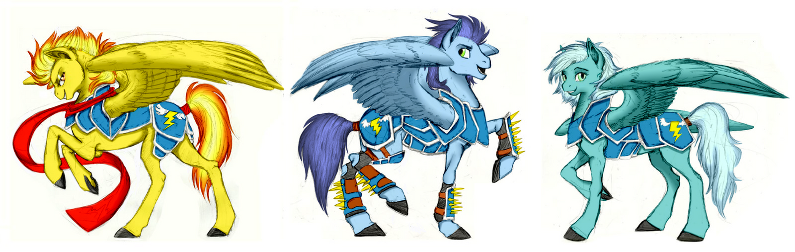 My little pony wonderbolts coloring pages - The Wonderbolts By Earthsong9405 The Wonderbolts By Earthsong9405