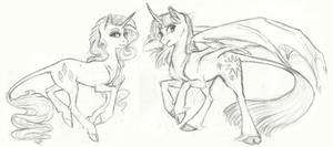 Style Experiment- Rarity and Twilight by Earthsong9405