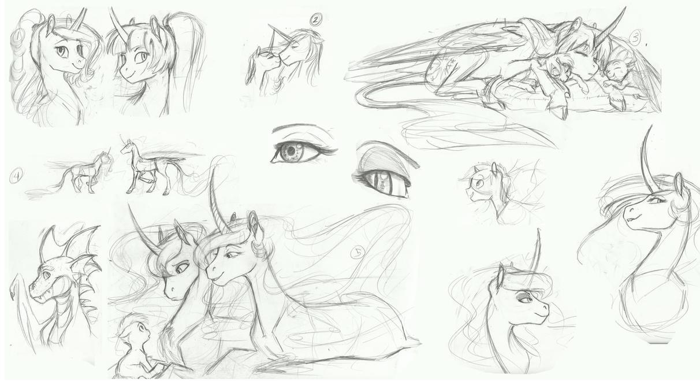 MLP Sketchdumpage by Earthsong9405