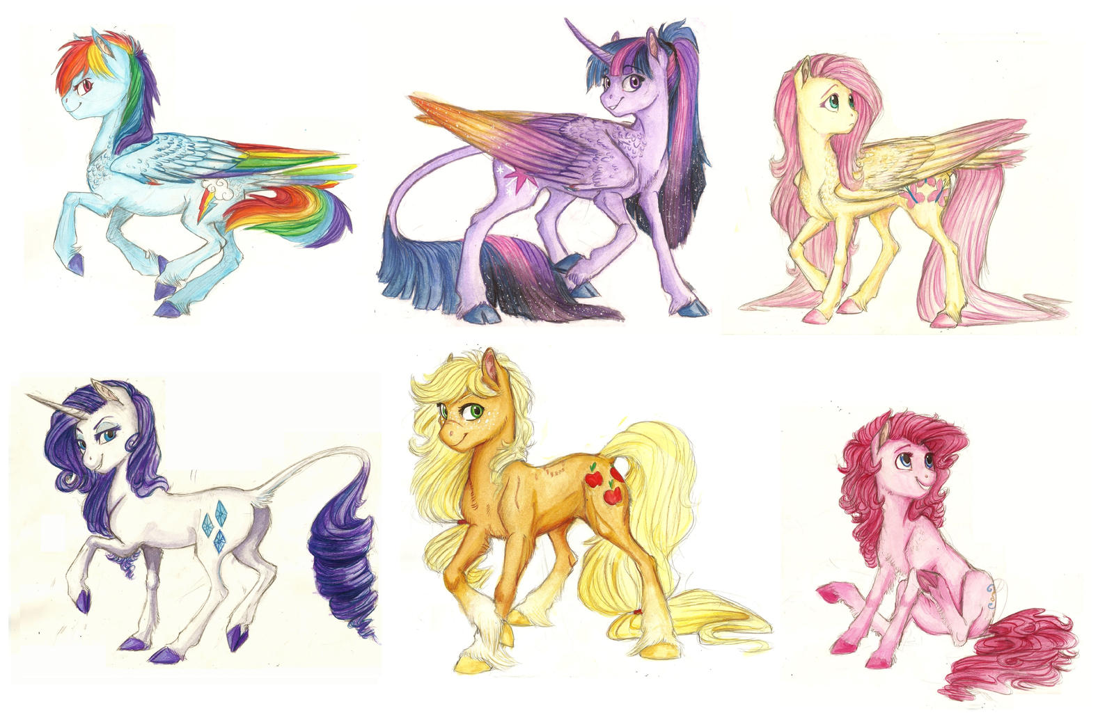 The Mane 6 by Earthsong9405