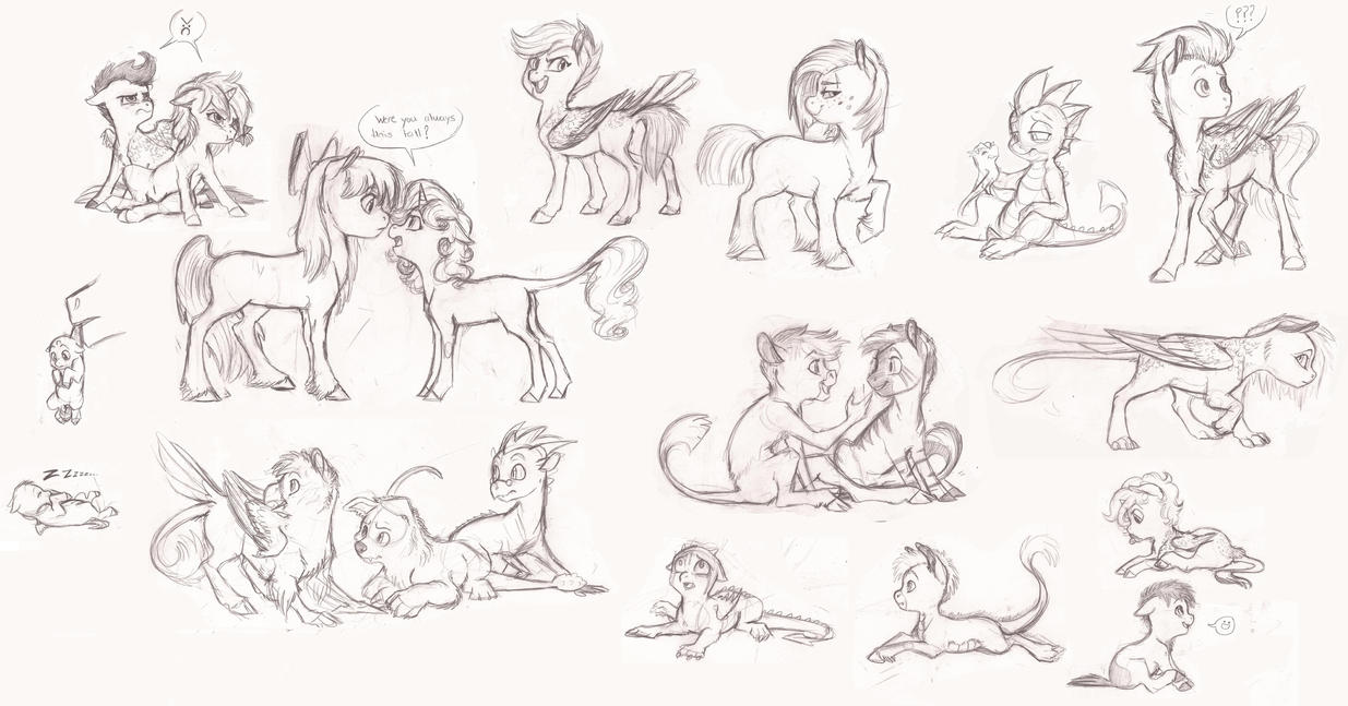 MLP Foal Sketchdump By Earthsong9405 On DeviantArt