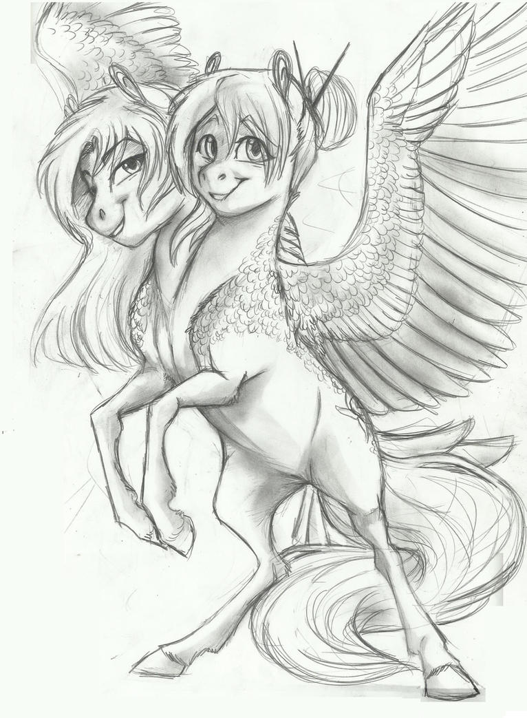 Commish- Two-headed pony by Earthsong9405