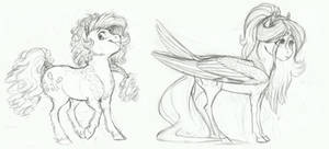 AU Doodle- Pinkie Pie and Fluttershy