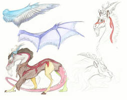 AU Sketchdump- Discord by Earthsong9405