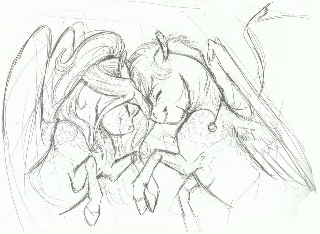 AU Doodle- Headboop by Earthsong9405