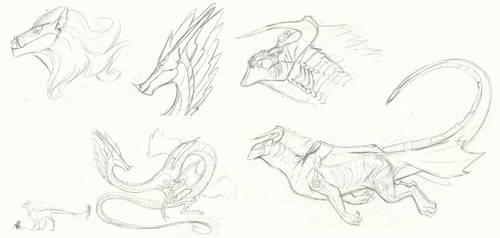 MLP Concept doodles: Dragon Gods