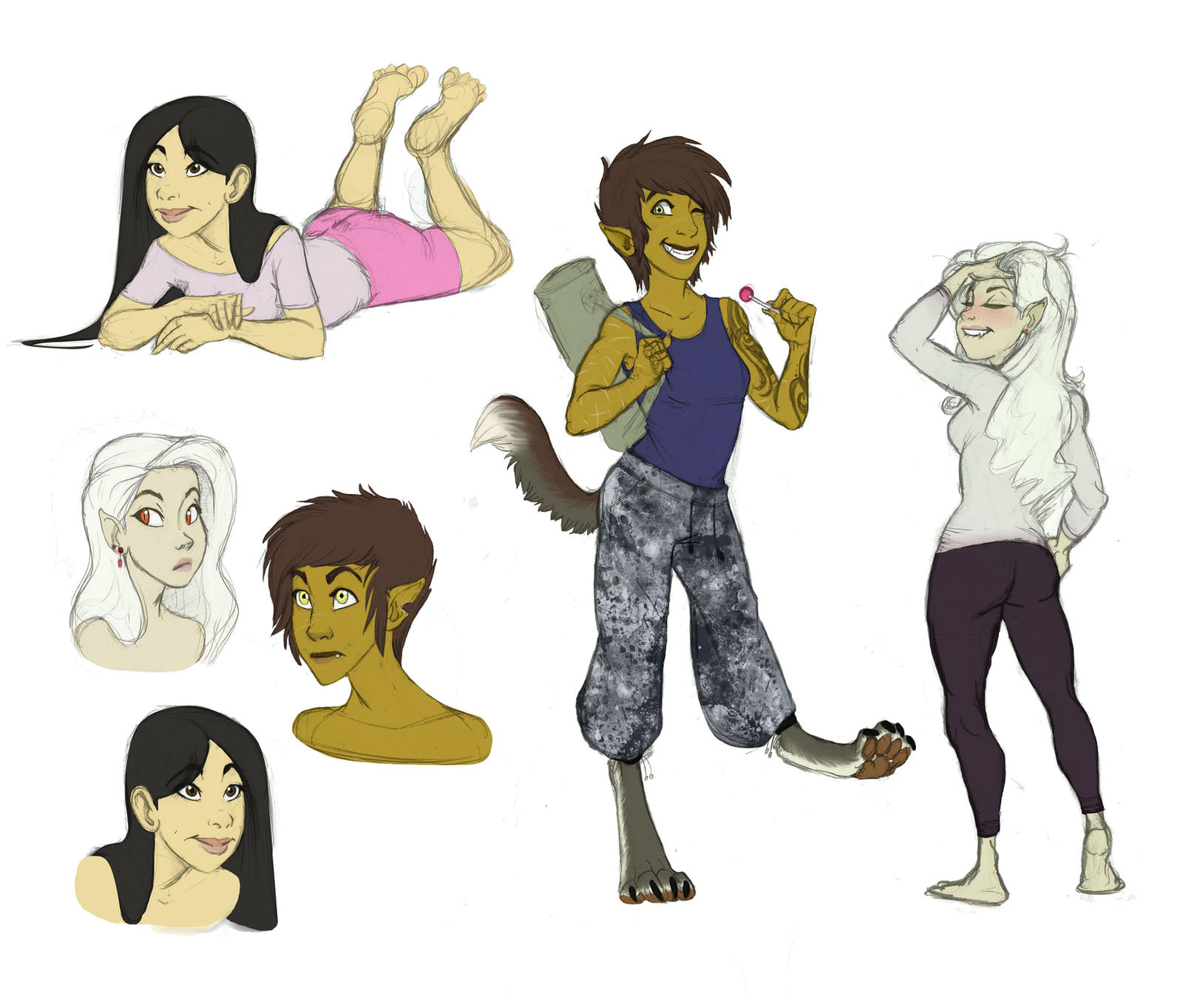 Book Character Design Tips : Original characters sketchdump by earthsong on deviantart