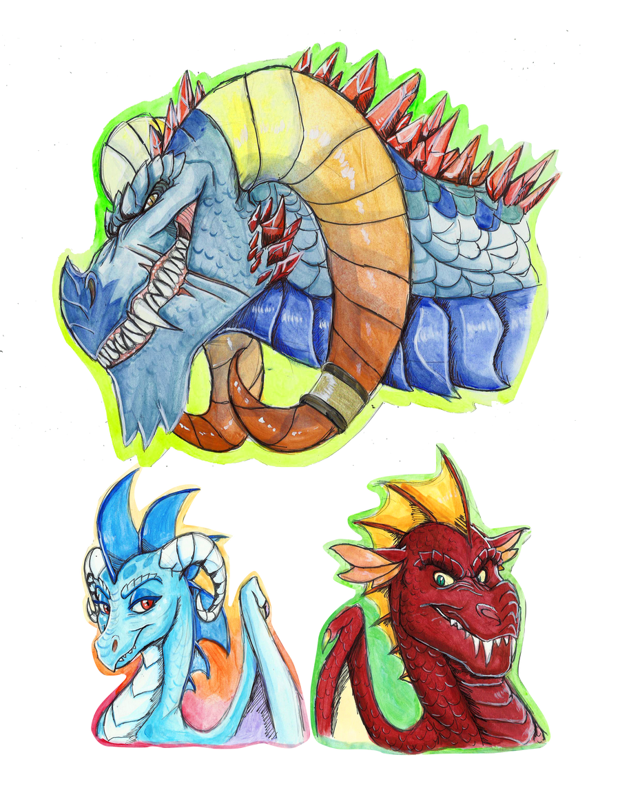Portrait Series: Torch, Ember, and Garble