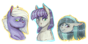 Portrait Series: Limestone, Maud, and Marble Pie
