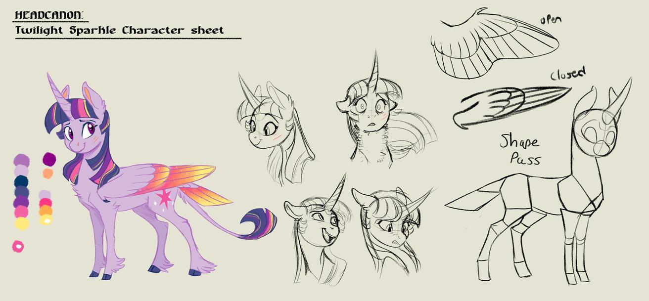 Twilight Sparkle: Headcanon Character Sheet by Earthsong9405