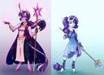 Goddess!AU: Twilight Sparkle and Rarity
