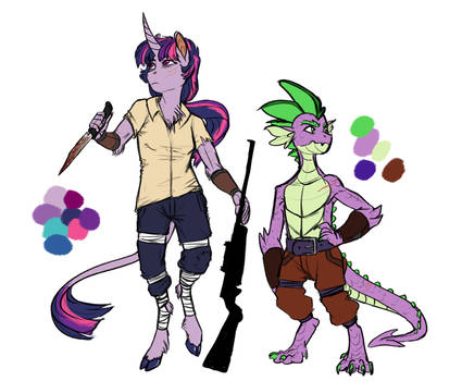Infected!AU: Twilight and Spike